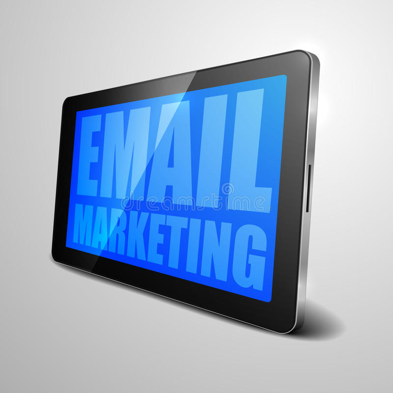 Tablet-E-Mail-Marketing vektor abbildung