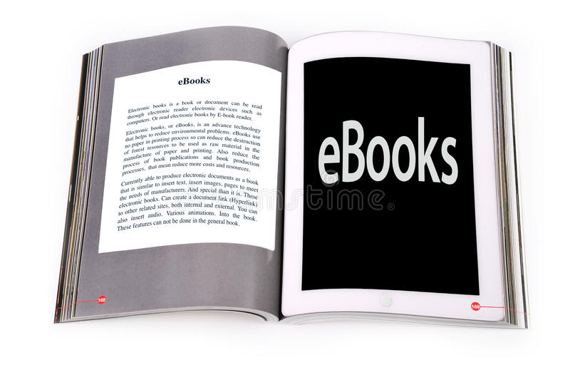 Tablet Ebook Royalty Free Stock Images