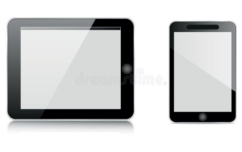 Tablet en mobiel vector illustratie