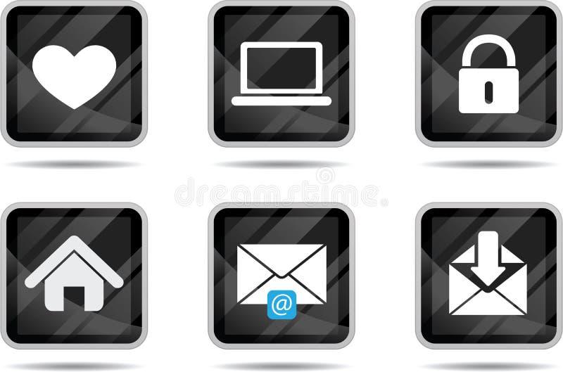 tablet för 2 symbolsinternet royaltyfri illustrationer