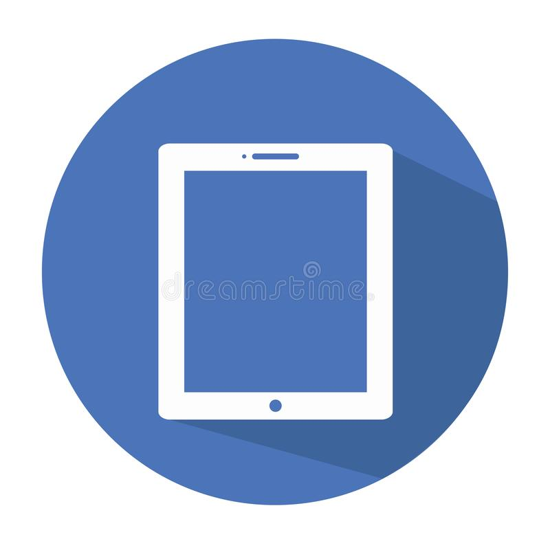 Tablet Circle Vector Icon eps stock image