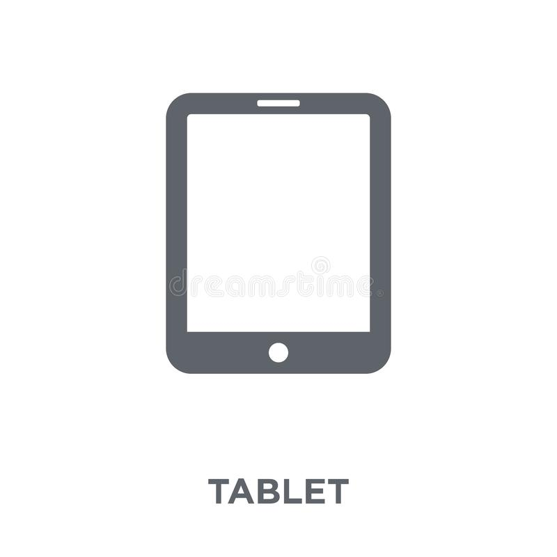 Tablet icon from Electronic devices collection. Tablet icon. Tablet design concept from Electronic devices collection. Simple element vector illustration on royalty free illustration