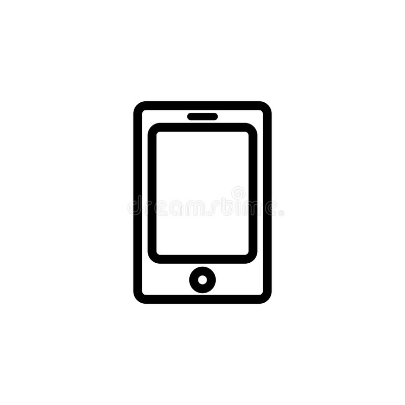 the tablet icon. Element of simple icon for websites, web design, mobile app, info graphics. Thick line icon for website design an stock illustration