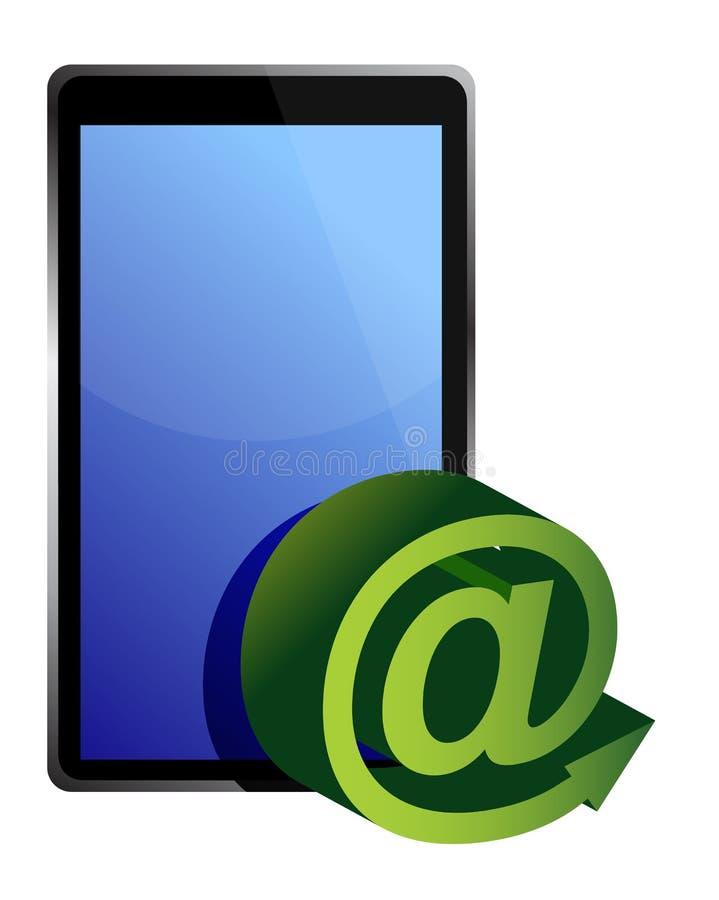 Download Tablet mail stock illustration. Illustration of display - 27562543