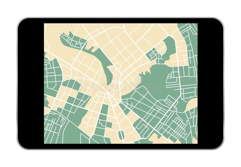 Tablet map stock illustration