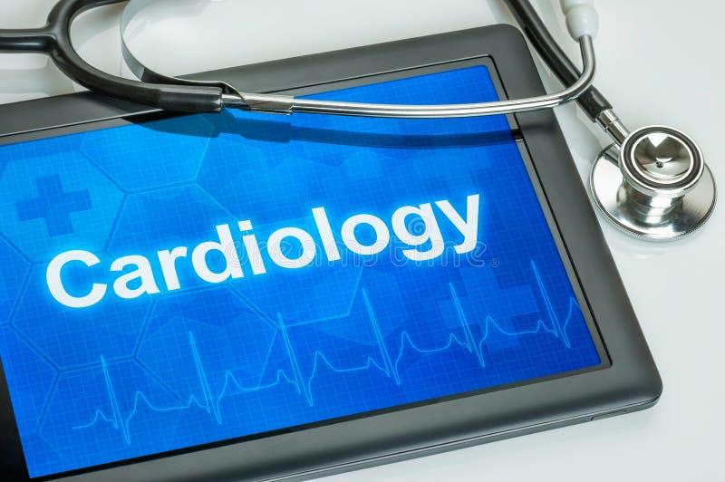 Tablet met de medische specialiteitcardiologie royalty-vrije stock foto