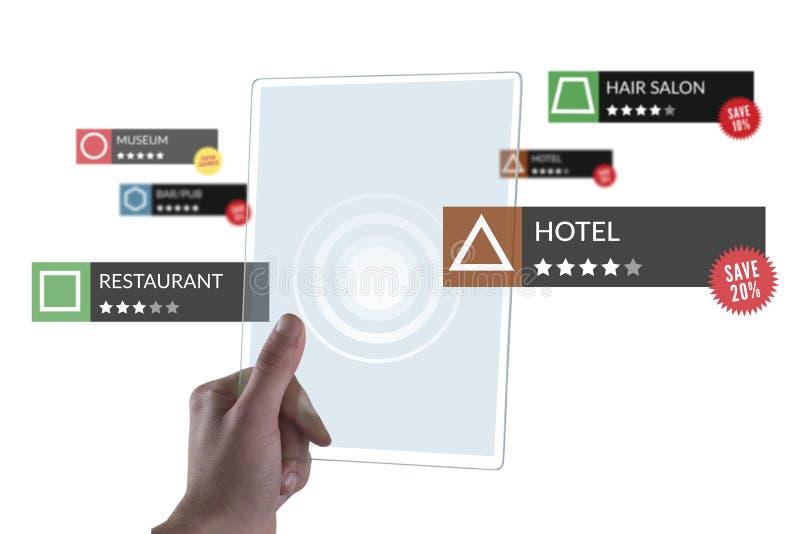 Tablet met Toepassingen royalty-vrije stock afbeeldingen