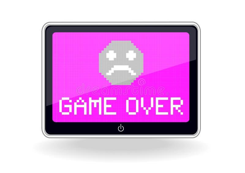 Tablet mit Spiel über Ikone vektor abbildung