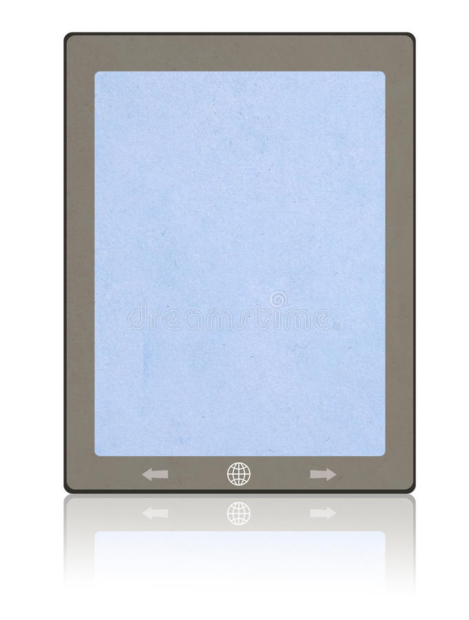 Tablet paper craft stick royalty free stock photography