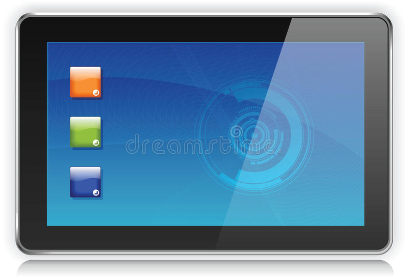 Download Tablet PC stock vector. Illustration of computer, isolated - 16507689