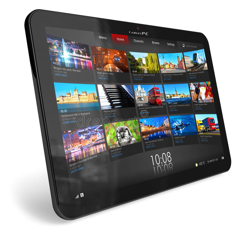 Tablet PC royalty free illustration