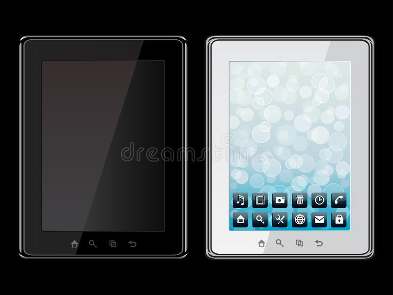 Download Tablet PC stock vector. Image of icon, communication - 18392567