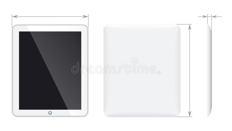 Tablet pc. The arrows are on separate layer, so you can delete them you if only need the tablet. Enjoy royalty free illustration