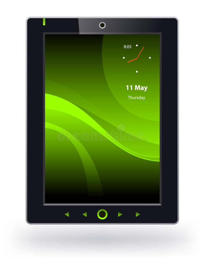 Tablet pc. On a white background vector illustration