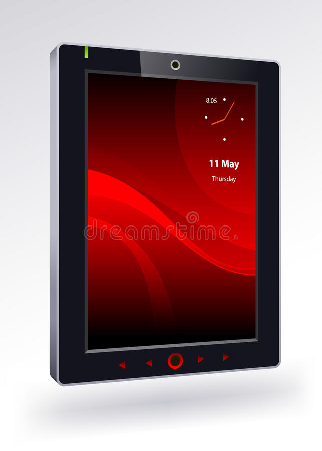 Tablet pc. On a white background stock illustration
