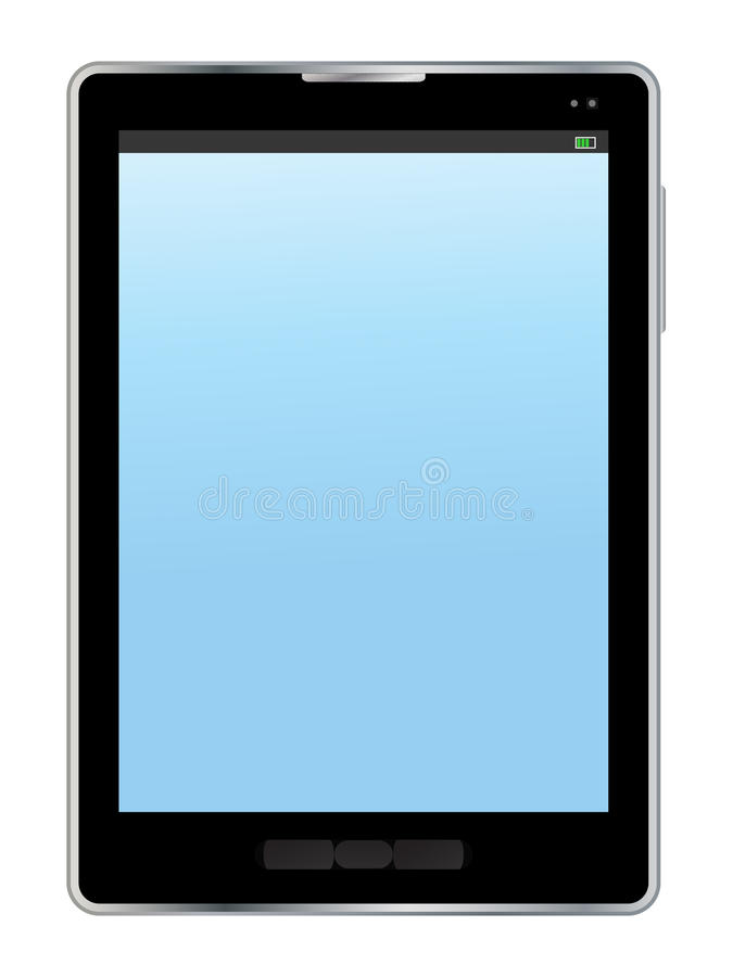 Tablet pc. Illustration on white background
