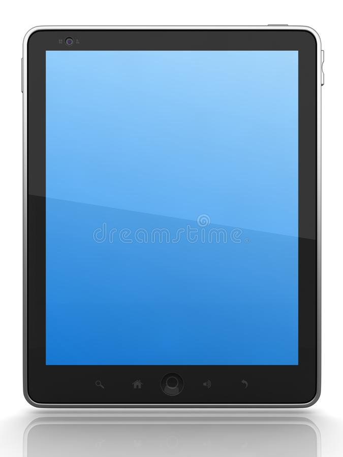 Tablet PC. High-Detailed Digital Tablet PC on White Background, 3D Render vector illustration