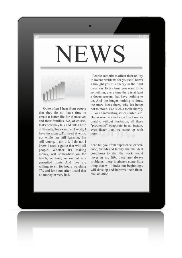 Download Tablet pc stock vector. Image of newspaper, notebook - 23216320