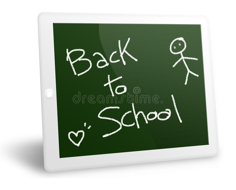 Download Tablet pc back to school stock illustration. Image of media - 21068651