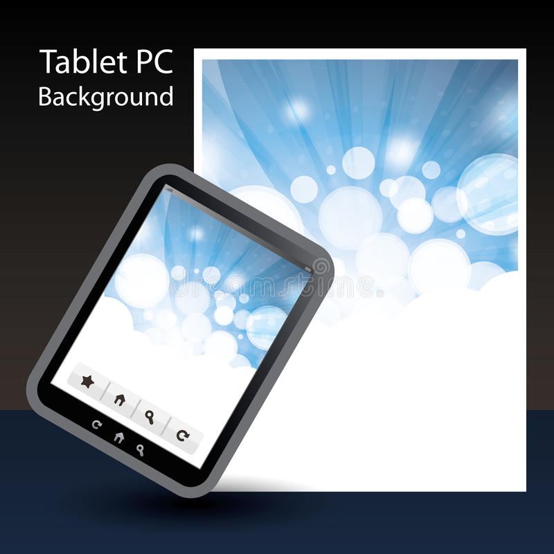 Download Tablet PC Background stock vector. Image of computer - 20980713