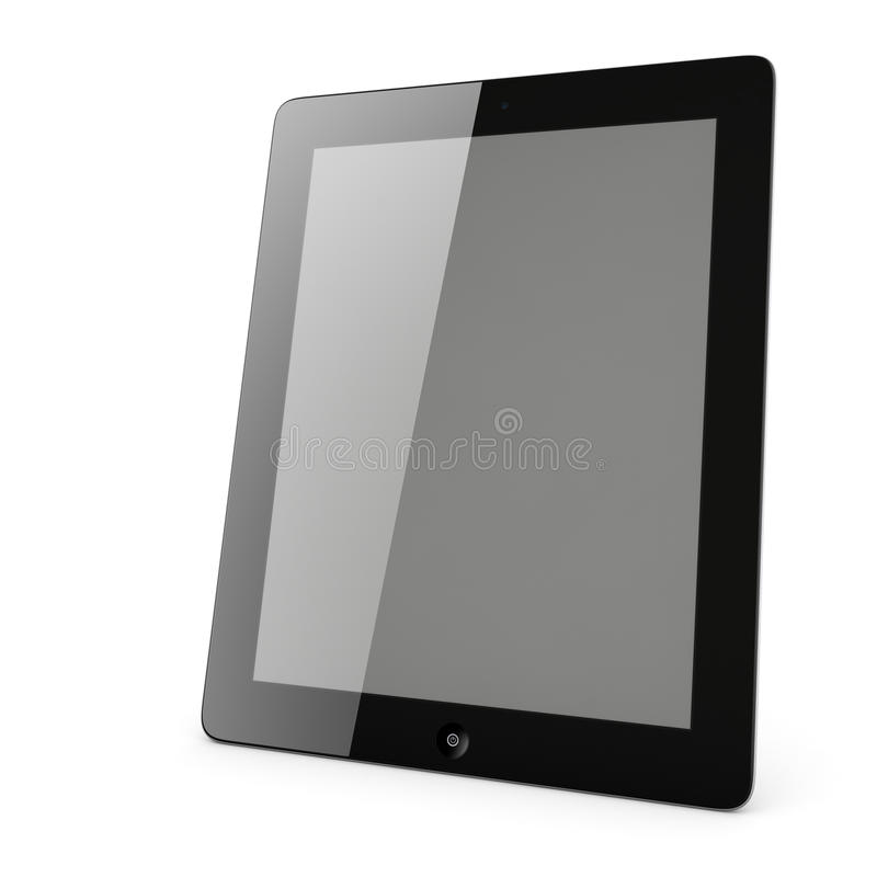Tablet PC With Blank Screen Isolated Stock Image