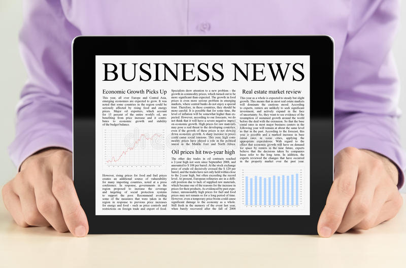 Download Tablet PC With Business News Stock Image - Image: 22312933