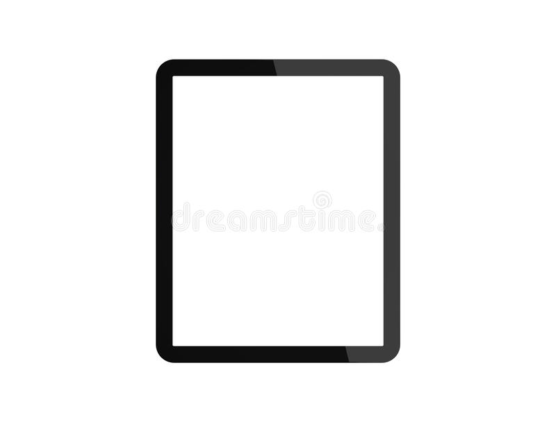 Tablet pc com a tela branca vazia fotos de stock royalty free