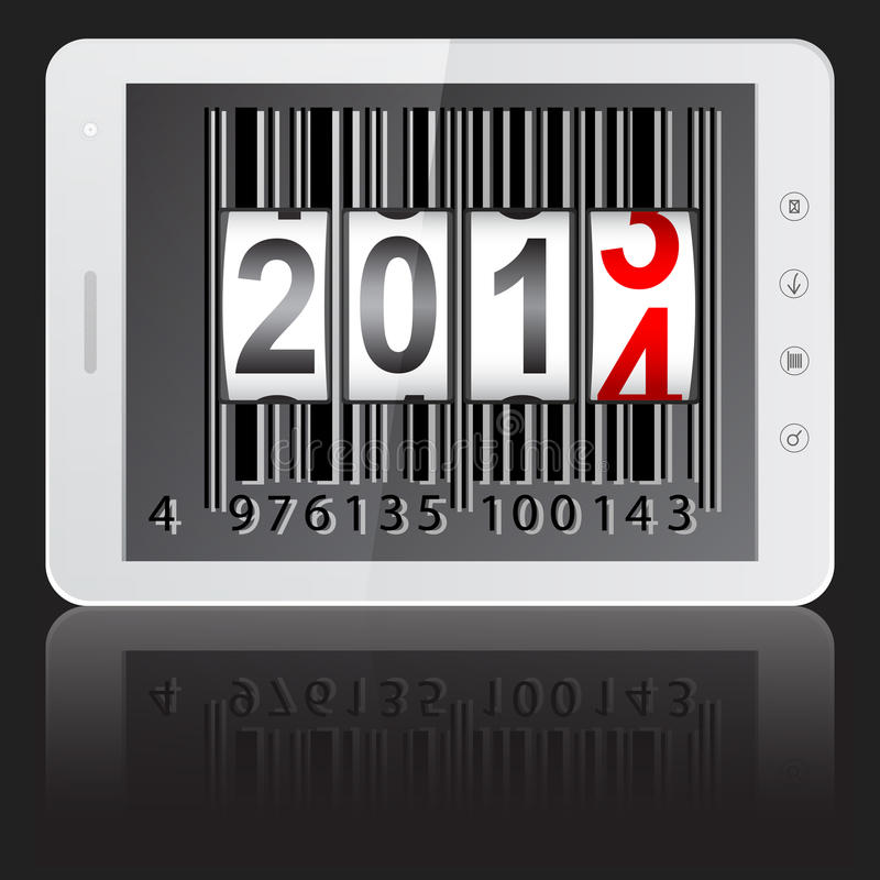 Download Tablet PC Computer With 2014 New Year Stock Illustration - Image: 29298302
