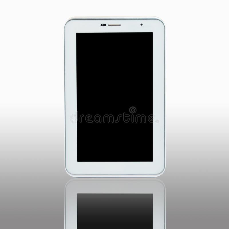 Tablet pc computer. With blank screen. This size is 7 inch stock images