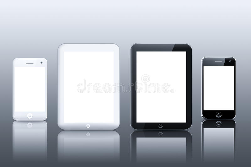 Tablet PC computer and smart phone royalty free illustration