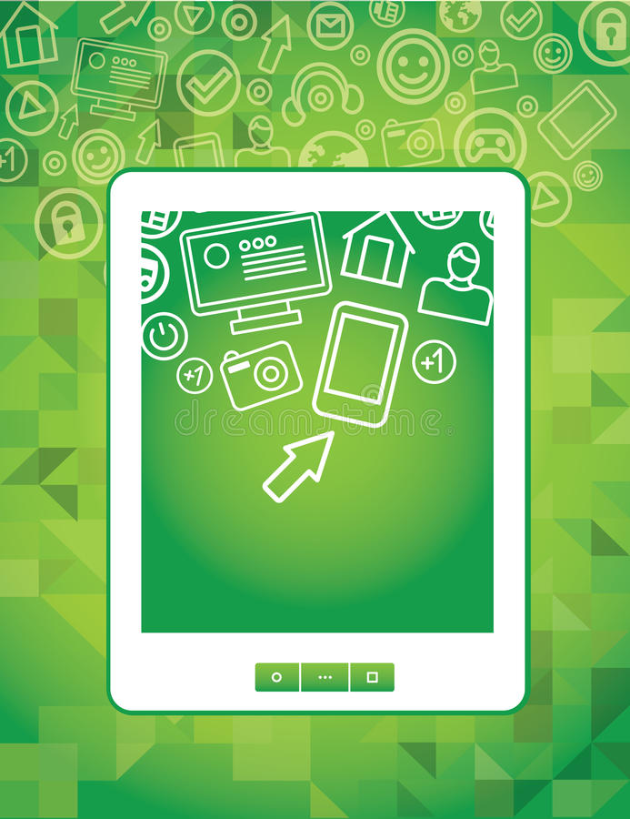 Download Tablet Pc Concept With Social Media Icons Stock Vector - Image: 23772082