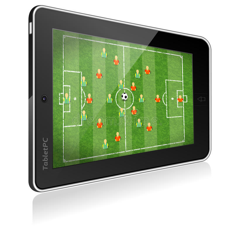 Download Tablet PC With Football Game Stock Vector - Image: 24820437