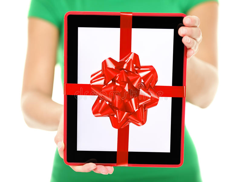 Download Tablet PC gift stock image. Image of computer, holding - 27820761