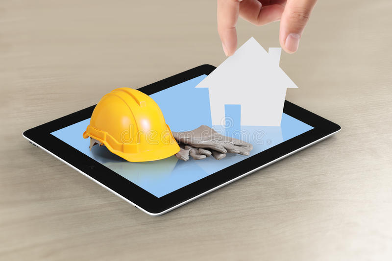 Download House on tablet stock image. Image of home, estate, plan - 29861881