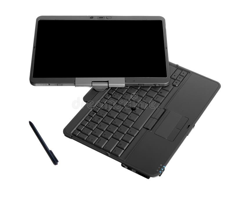 Tablet PC-Laptop auf weißem Hintergrund stockfoto