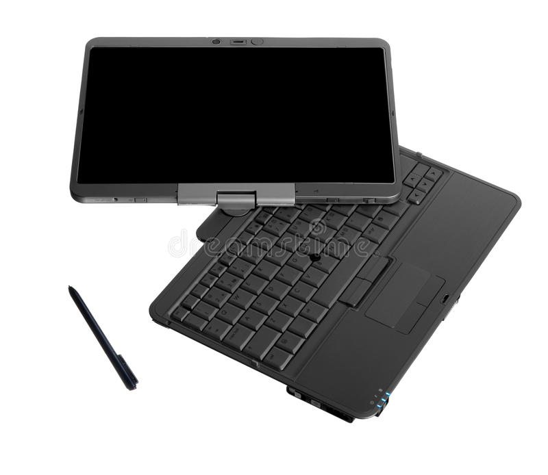 Download Tablet PC Laptop On White Background Stock Photo - Image of white, display: 9628160