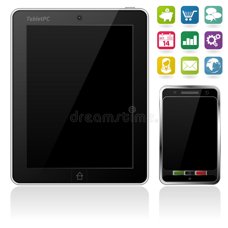 Tablet PC And Mobile Phone Royalty Free Stock Images