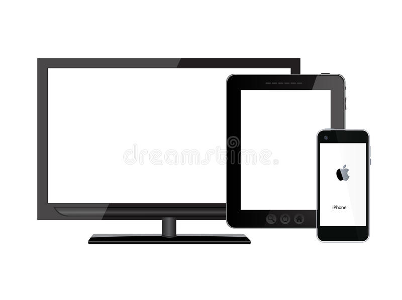 Download Tablet Pc, Mobile Phone And Tv Stock Vector - Image: 29793722