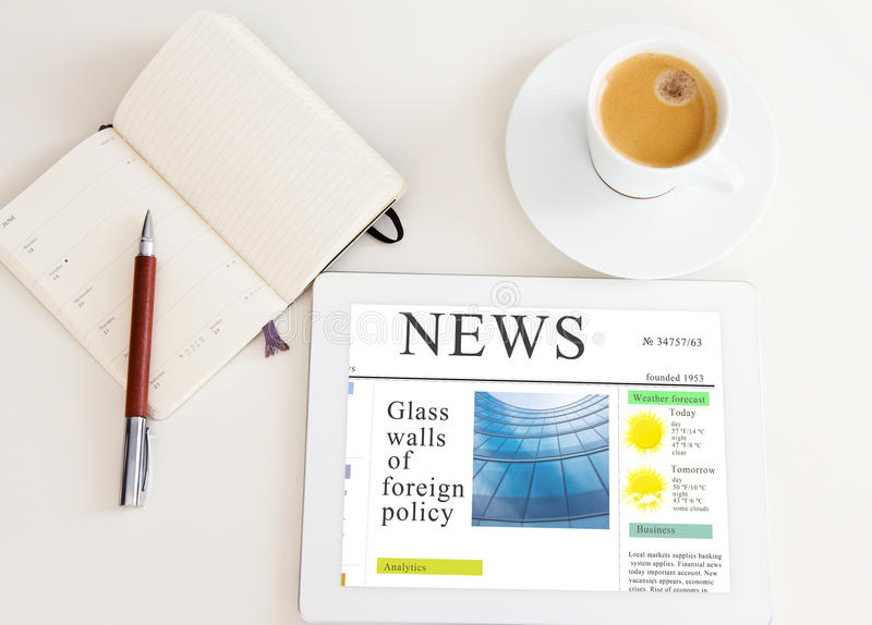 Modern morning newspaper royalty free stock images