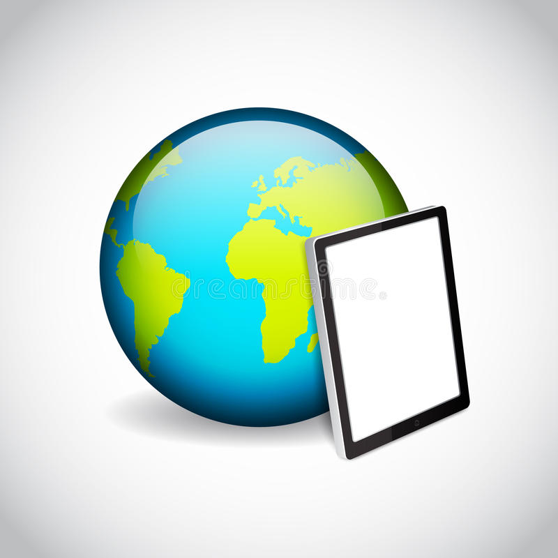 Tablet PC And Planet Royalty Free Stock Images