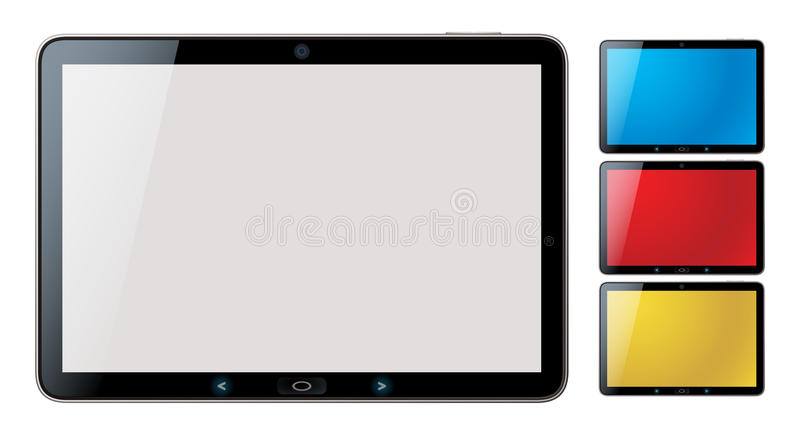 Download Tablet Pc Set With Copyspace - Isolated Vector Stock Vector - Image: 23643694
