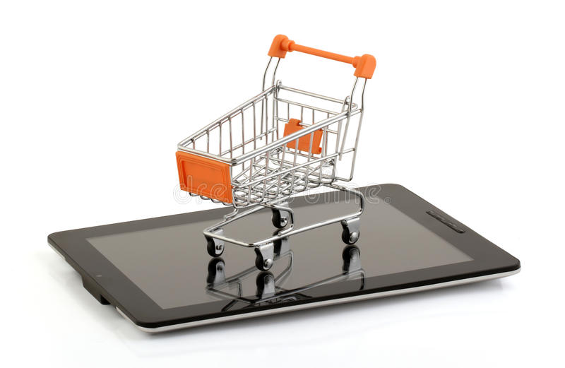Download Tablet Pc Shopping From Royalty Free Stock Image - Image: 32268606