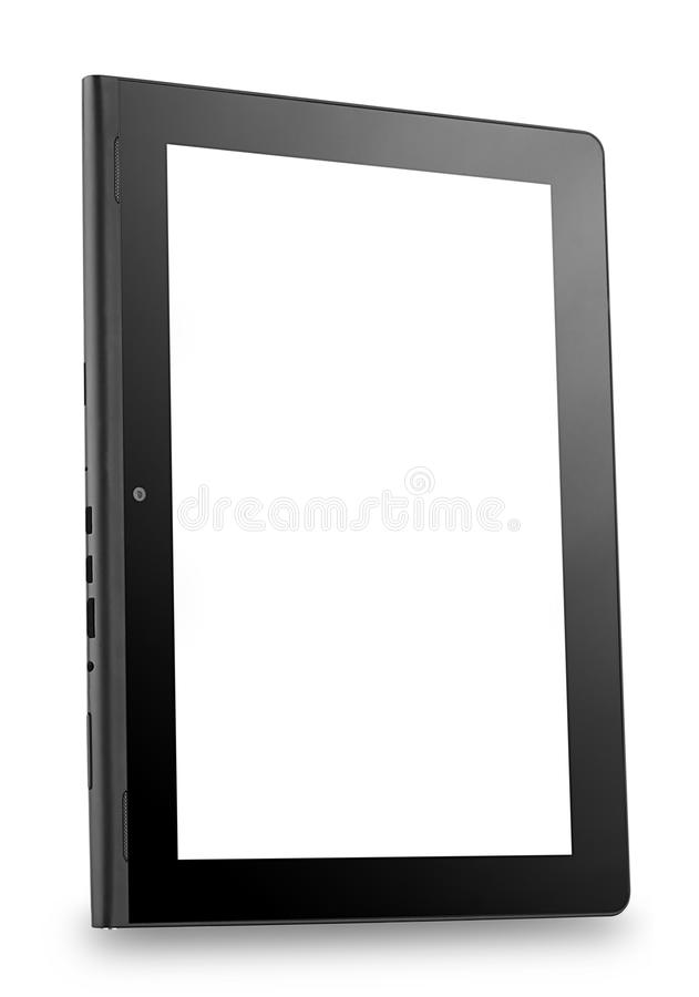 Tablet PC shot at an angle royalty free stock images