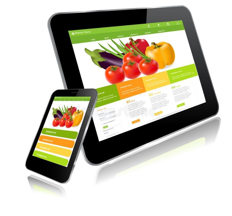 Tablet-PC und Smart-Telefon lizenzfreie abbildung