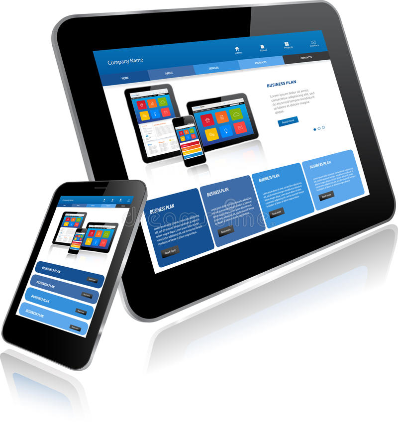 Tablet-PC und Smart-Telefon vektor abbildung