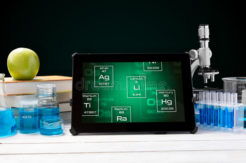 Tablet with periodic table symbols stock image image of education download tablet with periodic table symbols stock image image of education liquid 79788105 urtaz Image collections
