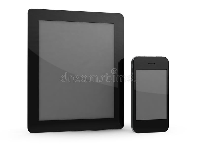 Download Tablet and phone stock illustration. Image of isolated - 21562159