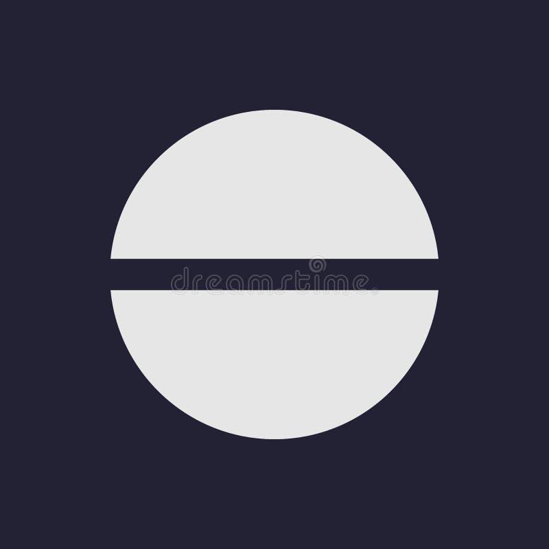 Tablet of pillenpictogram in vlakke ontwerpstijl Vector illustratie vector illustratie