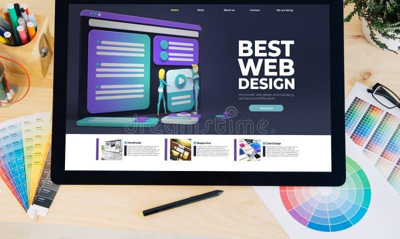 Tablet-Pro-Best-Web-Design stockbilder