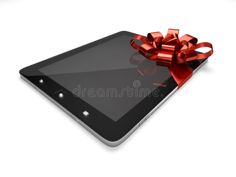 Tablet with ribbon stock illustration